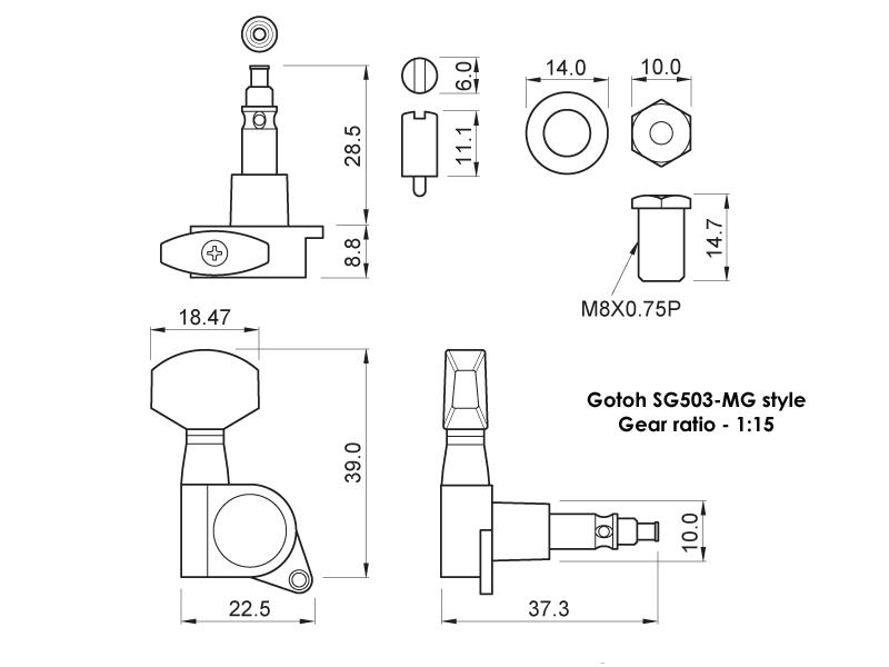 Локовые колки Gotoh SG503 MG